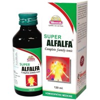 Wheezal Super Alfalfa (120ml) : Maintain Health, Boosts Immunity, Energy, Stamina & Improves Appetite