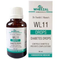 Wheezal WL-11 Diabetes Drops (30ml) : Maintains Blood Sugar, Lowers High Blood Sugar, Excess urination