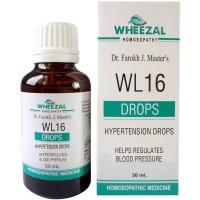 Wheezal WL-16 Hypertension Drops (30ml) : Regulates High Blood Pressure, heart rate, Relieves Stress, Palpitation