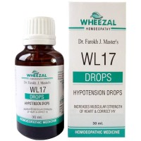 Wheezal WL-17 Hypotension Drops (30ml) : Regulates Lowered Blood pressure, Weakness, Suffocation, Breathlessness