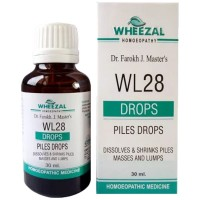 Wheezal WL-28 Piles Drops (30ml) : Relieves Painful, Bleeding, Burning Piles, Anal Fissure, Itching at anus