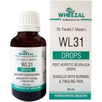 Wheezal WL-31 Post Herpetic Neuralgia Drops (30ml) : For Itching, Burning, Tingling, Numbness of affected Part after Herpes