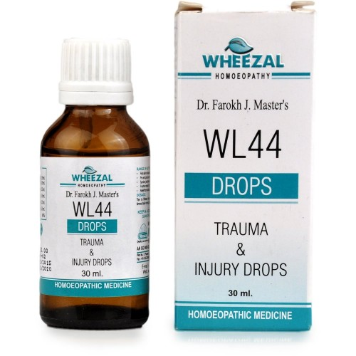 Wheezal WL-44 Trauma And Injury Drops (30ml) : For Injuries, Sprains, Pre & Post Surgery Healing, Fractures, Joint Pains