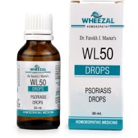 Wheezal WL-50 Psoriasis Drops (30ml) : Relieves Itching, Redness, Dry Eczema, Psoriasis, Cracked and Flaky Skin