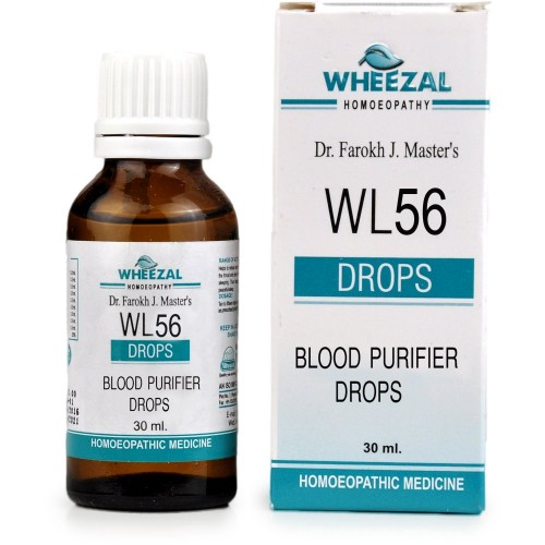 Wheezal WL-56 Blood Purifier Drops (30ml) : A Blood Purifier, Helps in Skin Diseases, Acne, Pimples, Boils, Eczema