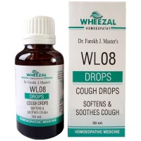 Wheezal WL-8 Cough Drops (30ml) : For Cough, Chest Congestion, Bronchitis, Chest Pain During Dry Cough