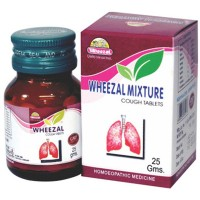 Wheezal Mixture Tablets (25g) : For Rattling Cough, Bronchitis, breathlessness, Suffocative Cough