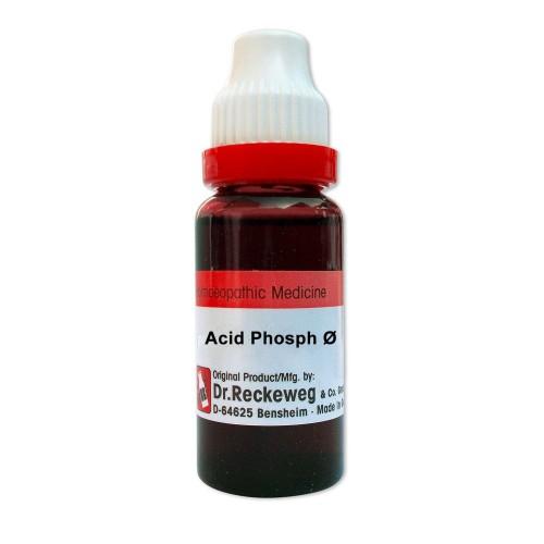 Dr. Reckeweg Acid Phosphoricum 1X (Q) (20ml) : Weakness, Debility, hairfall, pimples, sleeplessness, memory loss.