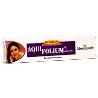 Medisynth Aquifolium Cream (20g) : Locally for Acne, Pimples, Blackheads, Facial Scars and Unhealthy Skin