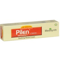 Medisynth Pilen Cream (20g) : For Painful Piles & Haemorrhoids Bleeding and Non Bleeding, Fissures
