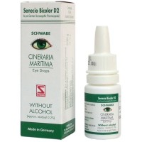 Willmar Schwabe Germany Cineraria Maritima Eye Drops (Without Alcohol) (10ml) : Used in Eye Strain,Headaches,Blurred Vision,Dryness & Redness of Eyes