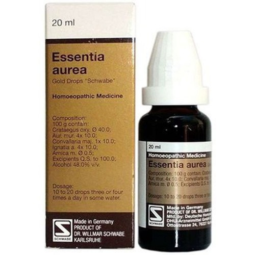 Willmar Schwabe Germany Essentia Aurea (20ml) : Improves circulation of blood, valve disease, breathlesness