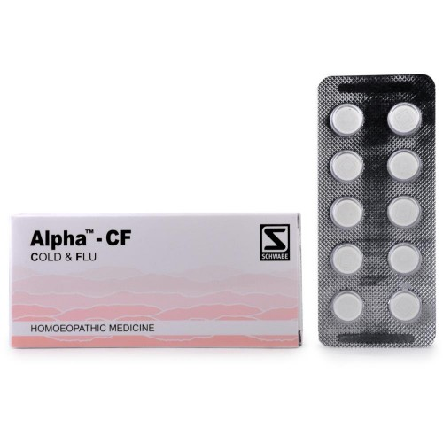 Willmar Schwabe India Alpha CF (Cold And Flu) (40tab) : Lowers Mild to High temperature, Headache, Body Ache, fever