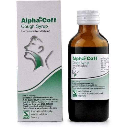 Willmar Schwabe India Alpha Coff (Cough Syrup) (100ml) : Helps in  Bronchitis, Wheezing, Dry Cough with vomiting, breathless