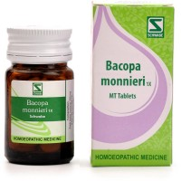 Willmar Schwabe India Bacopa Monnieri 1X Tablets (Brahmi) (20g) : Useful as Brain Tonic, Helps Improve Memory, Concentration