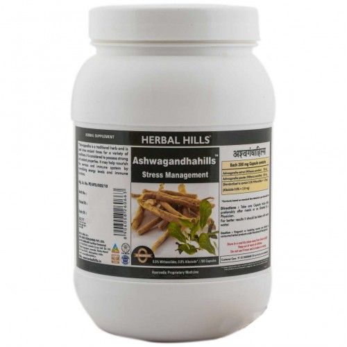 Herbal Hills Ashwagandha Stress Relieving Capsules Value Pack (700)
