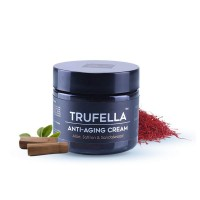Trufella Natural Anti Aging Face Cream - Natural Facial Moisturizer For Firm Age Defying Skin - Fine Lines, Dark Spots & Eye Wrinkles - Hydrating Day Or Night Skincare For Men & Women - Saffron & Sandalwood 50g