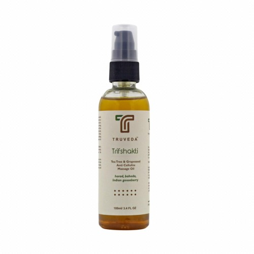 Truveda Ayurvedic Anti Cellulite Slimming Oil - Tea Tree (trifshakti 100ml)
