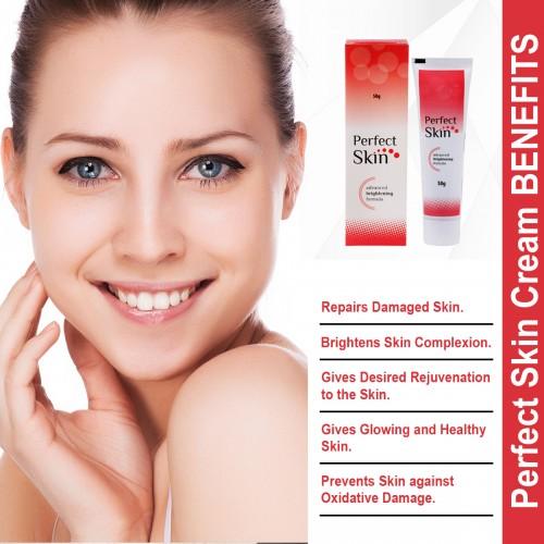 Indian Ayurvedic Perfect Skin Cream 50gm Tubes Advanced Brightening Formula