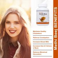 Shivalik Fenugreek - Methi Beej- Trigonella Foenum-graecum 120 Capsules Special For Diabetes, Lactation, Breast Enlargement,