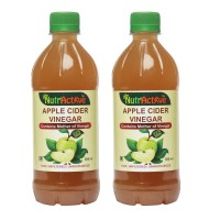 NutrActive™  Apple Cider Vinegar Mother Of Vinegar Syrup 1000 Ml Apple Jacked Pack Of 2