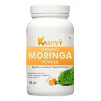 Kashvy Moringa Powder For Boost Immune System 100 Gm Multivitamins Powder