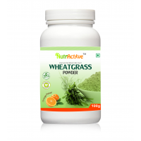 NutrActive Wheat Grass Powder With Orange Flavour - 100 Gm
