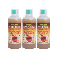 NutrActive™ Apple Cider Vinegar with Ginger, Garlic, Lemon & Honey - Pack Of 3 (500 ml each)
