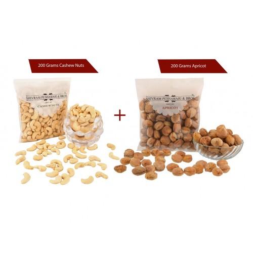 Cashew 200 gms + Apricot 200 gms