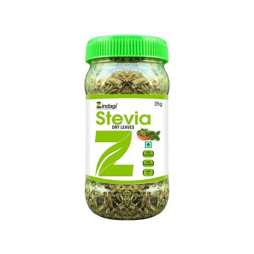Zindagi Stevia Dry Leaves 100% Natural Sweetner - 35 Gm