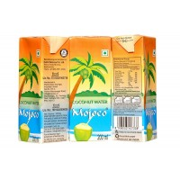 MOJOCO Delicious Natural Tender Coconut Water Energy Drink (200 Ml) (Pack Of 27)