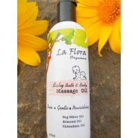 La Flora Organics BABY BATH & Body MASSAGE Oil 100ml