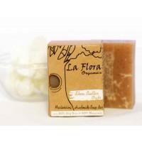 La Flora Organics Handmade Deep Moisturising Scrub Soap Bar - Shea Butter Oats 100g