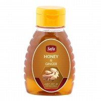 Safa Honey with Ginger, Natural Raw Unheated, Unpasteurized,250gm - Pack of 2