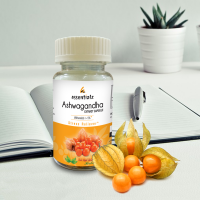 Ashwagandha Extracts – Stress Management Supplements - With pure Ashwagandha - Helps calm Stress and Anxiety - 60 Tablets