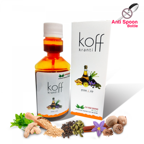 Koff Kranti - Ayurvedic Cough Syrup - For Dry And Productive Cough - 100ml Bottle