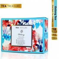 Teatreasure Oolong Darjeeling Tea - Helps In Weight Management And Gives The Skin A Healthy Glow - 1 Teabox ( 18 Pyramid Tea Bags )