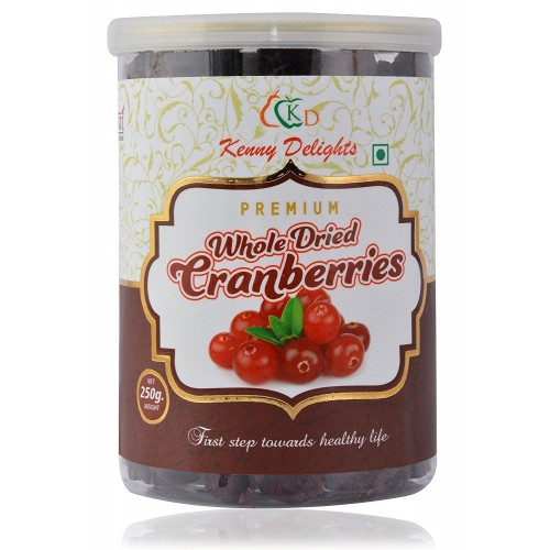 Premium Whole Dried Cranberries 250 grams