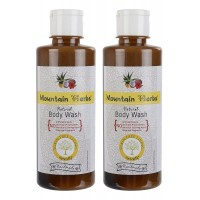 Mountain Herbs Natural Body Wash 2 bottles of 300 ml each