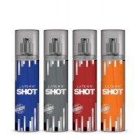 Layer'r Shots Body Splash Deo Assorted Pack of 4 - 135ml each