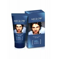 Leeford Healthcare's Meglow Whitening Face Cream for Men; Combo of 6 Packs of 50g each