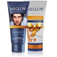 Leeford Meglow Premium Fairness Cream 50G & Face Wash Combo 70G