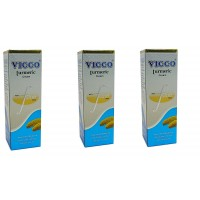 Vicco Turmeric Cream with Foam Base 70g (Pack of 3)