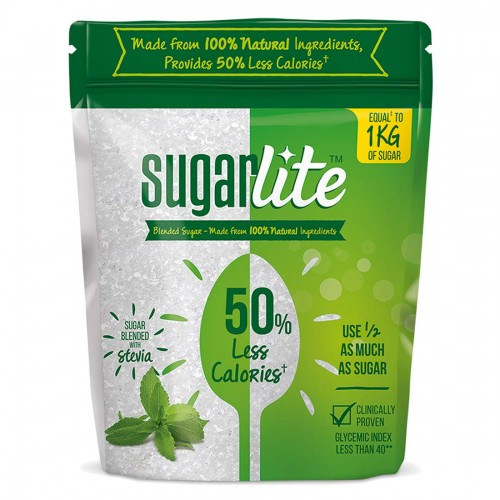 Sugarlite Sugar Pouch, 500 Gm - 50% Less Calories