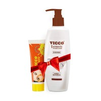Vicco Turmeric Skin Cream-70g+Vicco Body Lotion-300g