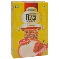 Ammae Sprouted Ragi Powder - Strawberry, 125 G (Pack Of Two)