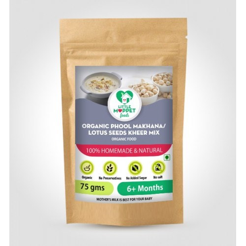Organic Phool Makhana/ Lotus Seeds Kheer Mix 75 gm