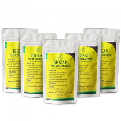 Biozap Waste Decomposer Pack Of 5 (50 gm each) - Compost Accelerator