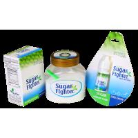 Sugar Fighter Stevia Sachets Box, Tablets And Liquid - Zero Calories & Fat Free Sweetener - Natural Stevia - Sugar-free Combo - (40 Sachets, Stevia Jar 100gms And Stevia Liquid 10ml)