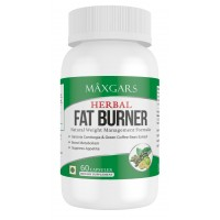 Maxgars Herbal Fat Burner, 60 Capsules | 100% Results | No Side Effect | Weight Management Formula